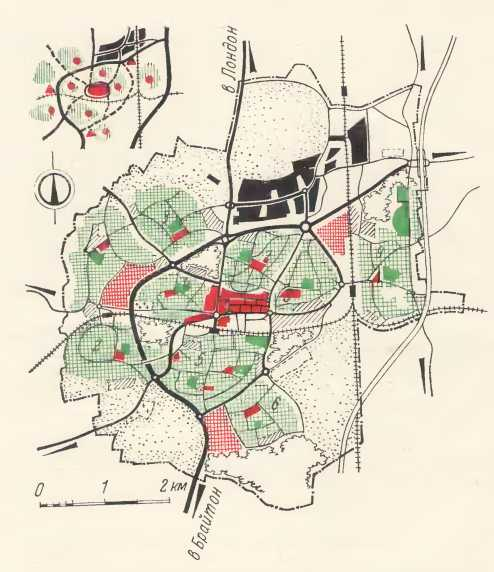 Город-сателлит Кровли. Схема